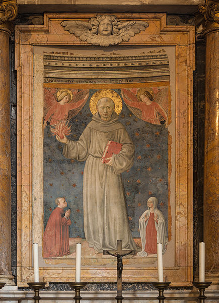 File:Saint Anthony of Padua, fresco Benozzo Gozzoli