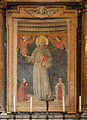 Saint Anthony of Padua, fresco Benozzo Gozzoli, Church Santa Maria in Aracoeli, Rome, Italy.jpg