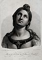 Saint Cecilia. Stipple engraving by N. Bertrand after E. Bou Wellcome V0031851.jpg