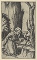 Saint Francis of Assisi praying before a crucifix, from the series 'Piccoli Santi' (Small Saints) MET DP853500.jpg