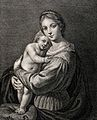Saint Mary (the Blessed Virgin) with the Christ Child. Engra Wellcome V0033733.jpg