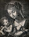 Saint Mary (the Blessed Virgin) with the Christ Child. Line Wellcome V0033738.jpg