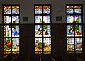 Saint Maximilian Kolbe Catholic Church (Liberty Township, Ohio) - stained glass, The Last Supper bank 1.jpg