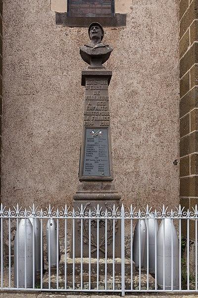 Monument aux morts de Sainte-Eugénie-de-Villeneuve.
