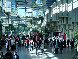 Washington State Convention Center - The South Lobby in use for Sakura-Con.