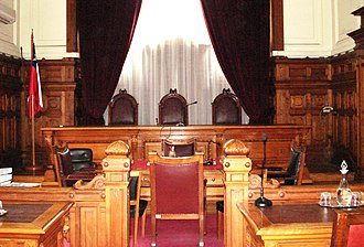 Judiciary of Chile - One of the rooms of the Courts of Appeals of Santiago.