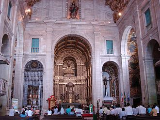 Cathedral of Salvador - Interior of Cathedral of Salvador towards the main chapel.