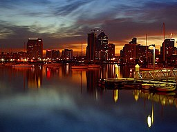 San Diego docks night