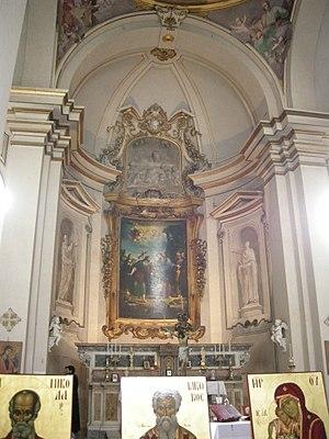 Pietro Dandini - Image: San Jacopo Soprarno, interno, altare maggiore pier dandini vocazione di san jacopo