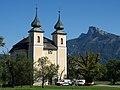 Sankt Lorenz, Kirche mit Schafberg.JPG