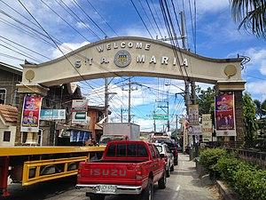 Santa Maria, Bulacan - Santa Maria Welcome Arch