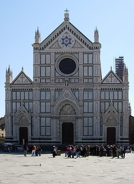 http://upload.wikimedia.org/wikipedia/commons/thumb/8/8d/Santa_Croce%2C_Florence.jpg/439px-Santa_Croce%2C_Florence.jpg