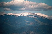 Santa Fe Baldy z chmurą od białych Rock.jpg