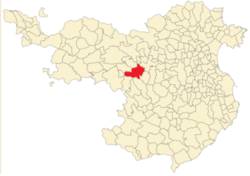 Location of Santa Pau in Girona