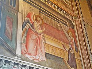 Prato Cathedral - Chapel of the Sacred Girdle - fresco by Agnolo Gaddi