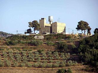 Tegart's Wall - Tegart fort at Kibbutz Sasa