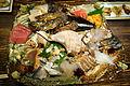 Sashimi dish - Tokyo, Japan - DSC02158.JPG