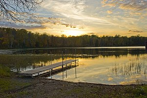 Savanna Portage State Park - The boat launch on Lake Shumway
