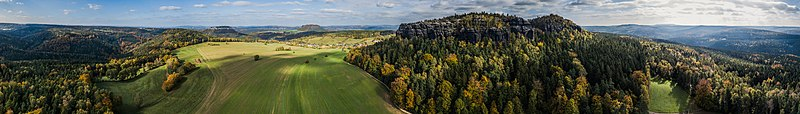 Saxon Switzerland National Park Banner- near to the Pfaffenstein.jpg