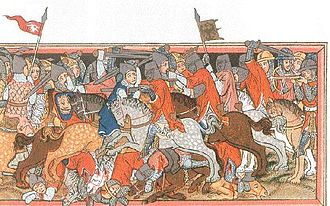 Louis IV, Holy Roman Emperor - Battle of Mühldorf (1322), contemporary illustration