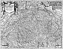 Detailed, black-and-white map