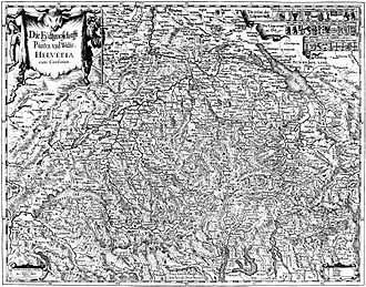 Old Swiss Confederacy - Old Swiss Confederacy on 1637 map