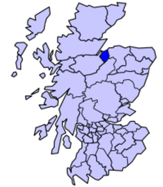 County of Nairn - Nairn District,  1975 to 1996