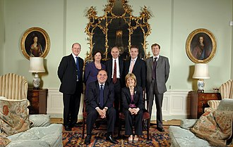 Alex Salmond - The Salmond Cabinet in Bute House, Cabinet from 2007 until 2011