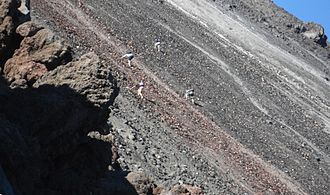 Mount Ngauruhoe - Scramblers up Mt. Ngauruhoe.