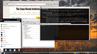 X Window System - A modern example of a graphical user interface using X11 and KDE.