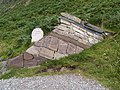 Sculpture showing the rock formations of the Moine Thrust, Knockan Grag Visitor Centre - geograph.org.uk - 259318.jpg