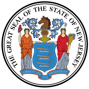 The Great Seal of the State of New Jersey.