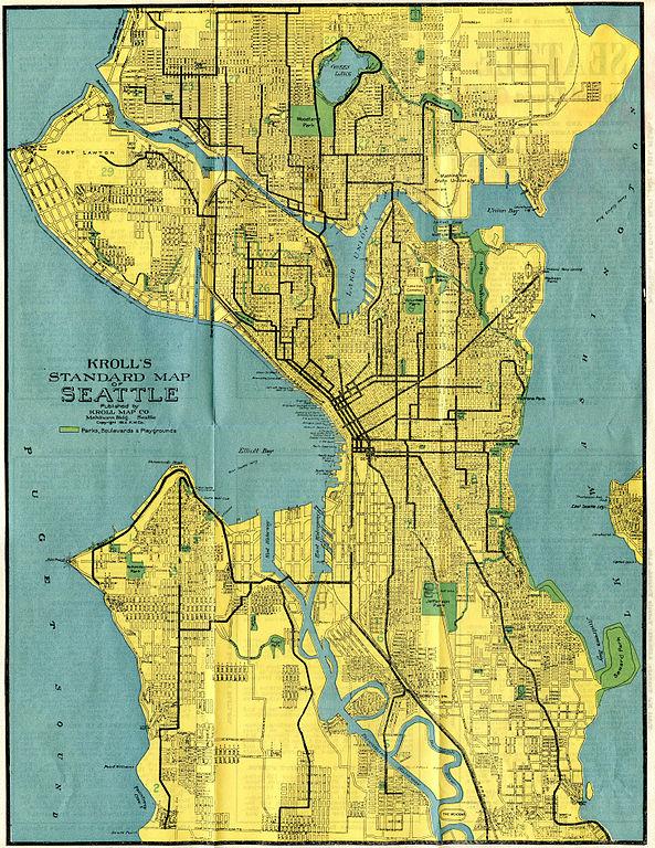 Seattle Washington Map Tourist.File Seattle Map 1914 5855306176 Jpg Wikimedia Commons