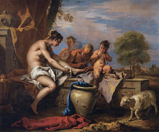 Sebastiano Ricci - Nymph and Satyrs - WGA19421