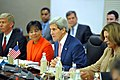 Secretary Kerry thanks Foreign Minister Sushma Swaraj for hospitality at start of plenary session for strategic dialogue in New Delhi.jpg