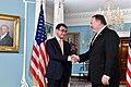 Secretary Pompeo meets Greets Japanese Foreign Minister Kono (42578237122).jpg