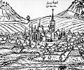 Sedlčany, kostel sv. Martina v roce 1602.jpg