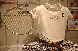 Monica Seles - Seles' outfit at the Tennis Hall of Fame Museum at the Newport Casino, Newport, Rhode Island