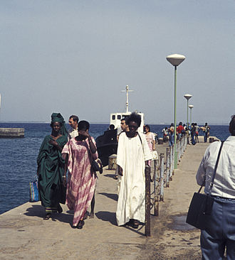 Wrapper (clothing) - A group of women wearing kaftans, also known as boubous, in Senegal, West Africa in 1974.
