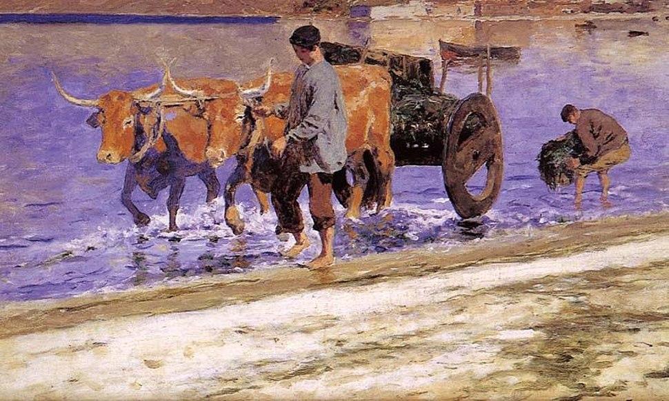 Serafín Avendaño 1838-1916, A carreta de argazo