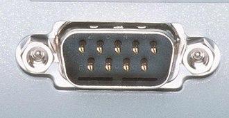 COM (hardware interface) - COM port (DE-9 connector).