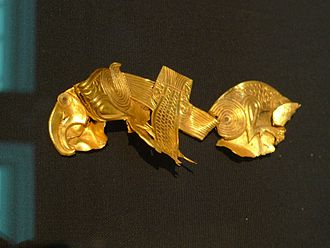 Staffordshire Hoard - Sheet gold plaque