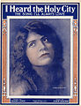 Sheet music cover - I HEARD THE HOLY CITY - THE SONG I'LL ALWAYS LOVE (1915).jpg