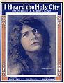 Sheet music cover - I HEARD THE HOLY CITY - THE SONG I'LL ALWAYS LOVE (1915).jpg