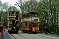 Sheffield 74 and Glasgow 22 passing at Wakebridge on the Crich Tramway - geograph.org.uk - 1290432.jpg
