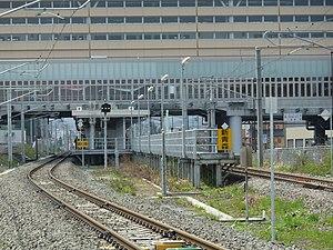 Shin-Aomori Station - The Ōu Main Line platforms in May 2011