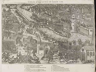 Siege of Orleans (1563) - The siege of Orleans, 1570 engraving by Tortorel and Perrissin.