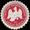 Siegelmarke Chef des Generalstabes VII. Armee-Korps W0307459.jpg