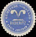 Siegelmarke Gemeinde-Vorstand Biederitz Kreis Jerichow W0382465.jpg