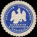Siegelmarke K. Pr. Direktion der Kriegsschule Hersfeld W0285558.jpg